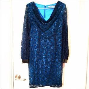 Andrew Marc laced long sleeve dress Size M